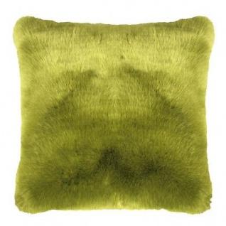 Pad Kissen SHERIDAN Fellkissen Grün Kissenhülle 45x45 Fell Kissenbezug Hellgrün