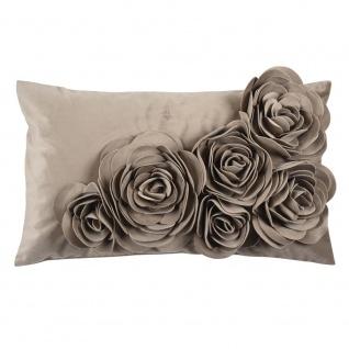 Pad Kissen FLORAL Taupe Blumen Kissenhülle Rosen Kissenbezug 30x50 Pad Concept
