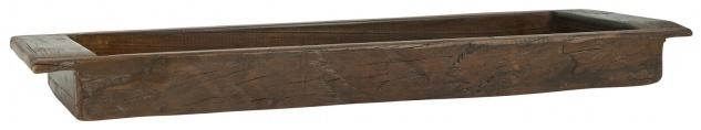 IB Laursen Holztrog Länglich UNIKA Holz Tablett Unikat Schale 20x80 cm Wiege