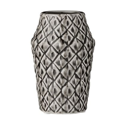 Bloomingville Vase Square Struktur. Blumenvase 15 cm Muster viereckig