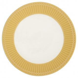 Greengate Teller ALICE Gelb 23 cm Kuchenteller Everyday Geschirr HONEY MUSTARD