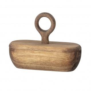 Bloomingville Dose mit Deckel AKAZIE oval Holzdose Vorratsdose Salzdose aus Holz