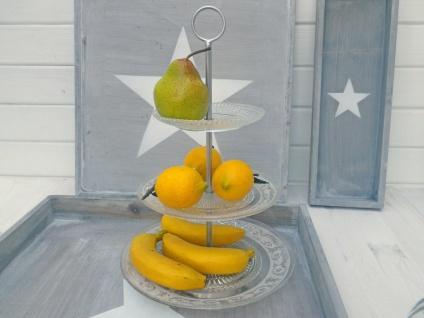 Etagere GRACE aus Glas 3 Etagen 35 cm hoch Kuchenplatte Tortenplatte Tischdeko