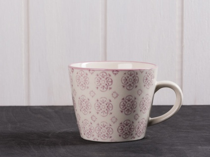IB Laursen Tasse Casablanca lila weiß Blumen Geschirr Keramik Becher