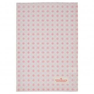 Greengate Geschirrtuch HARPER Pale PINK Rosa Blumen Baumwolle 50x70 Küchentuch