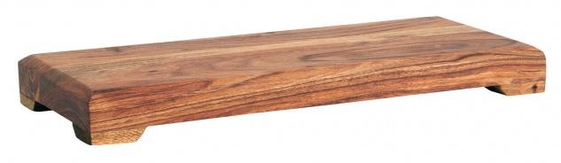 IB Laursen Servierbrett Akazie mit Füssen 33x15 cm Tapasbrett Servierplatte Holz
