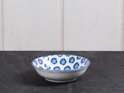 IB Laursen Schale LIVA Mini blau weiß Blumen Geschirr Schüssel Porzellan