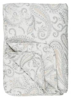 IB Laursen Quilt PAISLEY Weiss Beige Decke Tagesdecke Bettüberwurf 130x180 cm