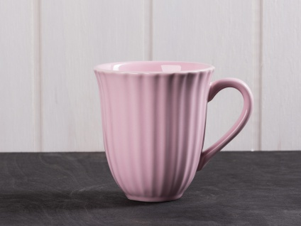 IB Laursen MYNTE Becher Rillen Rosa ENGLISH ROSE Keramik Geschirr Tasse 250 ml