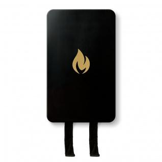 Nordic Flame Löschdecke SCHWARZ Gold Design Brandschutz Feuerlöschdecke