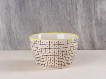Bloomingville Carla Müslischale braun creme Schale Schüssel Keramik Geschirr