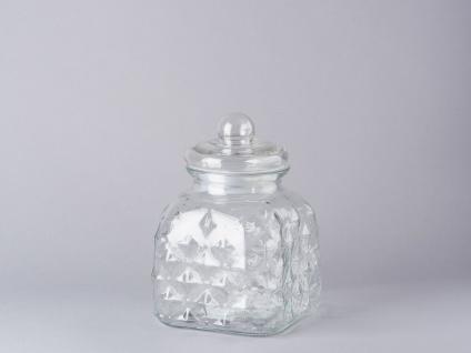Bloomingville Vorratsdose Glas mit Deckel 23.5 cm Vorratsglas 2.700 ml