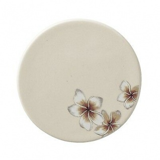 Bloomingville Teller Aruba mit Blumen Keramik Geschirr Untersetzer 10 cm