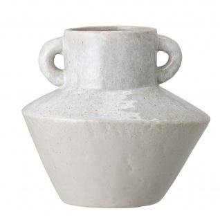 Bloomingville Vase AMPHORE Grau mit Henkeln 20 cm Keramik Blumenvase