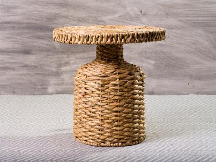 Bloomingville Beistelltisch CAMO Wasserhyazinthe Korb Tisch 47 cm