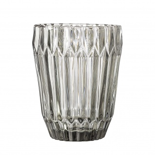 Bloomingville Glas grau Trinkglas Wasserglas 10 cm 230 ml schwere Ausführung