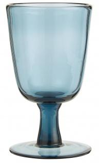 IB Laursen Weißwein Glas Blau 180 ml 8x13 cm Weinglas blaues Glas Trinkglas