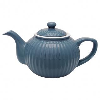 Greengate Teekanne ALICE Blau Kanne 1 Liter Everyday Geschirr Teapot OCEAN BLUE
