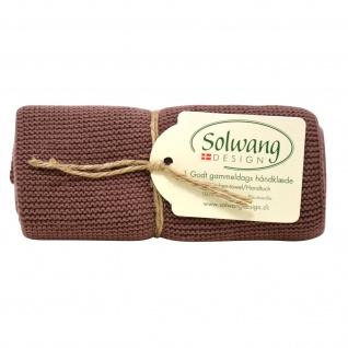 Solwang Küchentuch SCHOKOLADE gestrickt Geschirrtuch Handtuch Baumwolle Putztuch