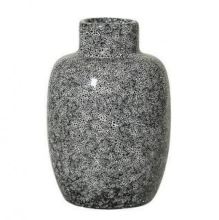 Bloomingville Vase schwarz weiß Keramik Blumenvase 11 cm hoch 7 cm Durchmesser