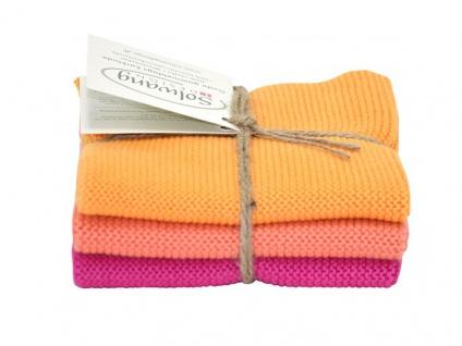 Solwang Wischtuch FROHE FARBEN 3er Tücher Wischlappen Wischtücher Pink Orange