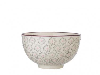 Bloomingville Schale MAYA Keramik Schüssel Geschirr Müslischale grau creme 350ml