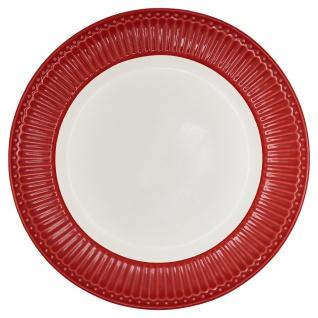 Greengate Teller ALICE Rot 26.5 cm Essteller Everyday Geschirr RED Speisenteller