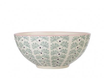 Bloomingville Schale MAYA Keramik Schüssel Geschirr Müslischale türkis creme 650