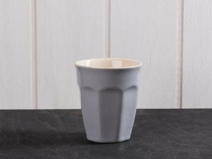 IB Laursen MYNTE Cafe Latte Becher Grau Keramik Geschirr FRENCH GREY 250 ml