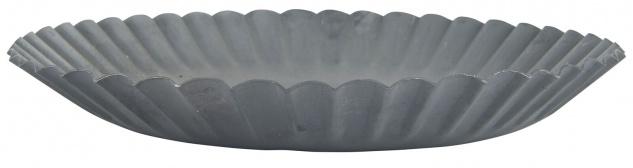 IB Laursen Kerzentablett 19 cm Kerzenständer Grau Kerzenhalter Metall Rund