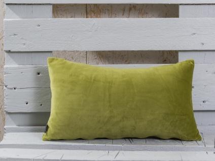 Pad Kissen SMOOTH Hellgrün Kissenhülle 25x50 samt Grün Kissenbezug Pad Concept