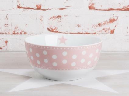 Krasilnikoff Schale Happy Bowl PUNKTE Rosa weiß pink gepunktet Müslischale