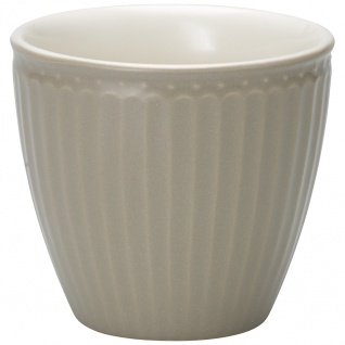 Greengate Latte Cup Becher ALICE Grau Everyday Geschirr WARM GREY 300 ml