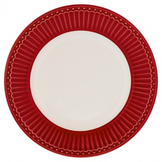 Greengate Teller ALICE Rot 17.5 Kuchenteller Everyday Geschirr Dessertteller