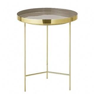Bloomingville Beistelltisch gold braun Aluminium Tisch 40 cm Höhe 50 cm Metall