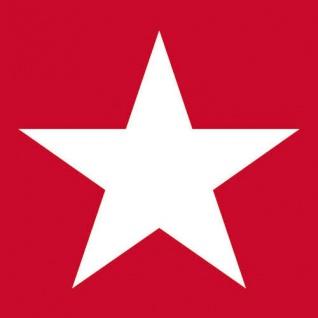 Ambiente Servietten STAR RED 20 Stück rot STERN weiß 3-lagig 33 cm Sterne Deko
