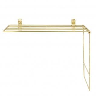 Bloomingville Handtuch Halter Gold Deko Metall 30x50 cm Handtuchstange Küche