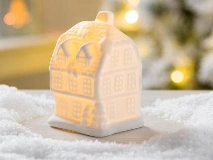 LED Haus LIAM weiß mit Licht 10 cm Weihnachten Deko Objekt beleuchtet
