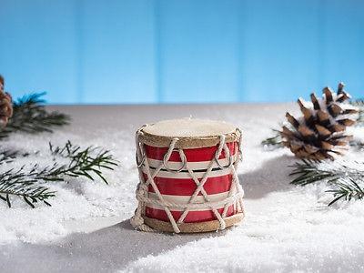 IB Laursen Trommel mini rot weiß gestreift mit Kordel Deko Weihnachtsdeko