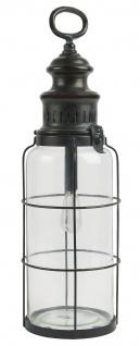 IB Laursen LED LATERNE Schwarz Henkel Hängelampe Batteriebetrieb 42 cm Lampe