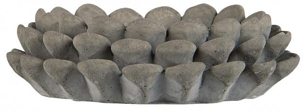IB Laursen Kerzenhalter ZAPFEN für 1 Kerze Grau 8.5 cm Beton Kerzenständer