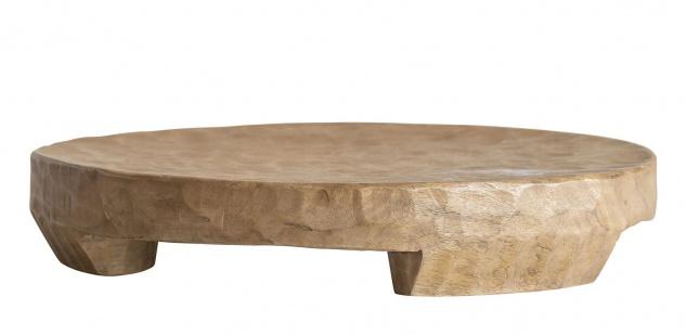 Bloomingville Tablett MANGO Holz Natur 45 cm Holztablett Rund UNIKAT schwer