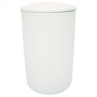 Greengate Vorratsdose mit Deckel ALICE WEISS Groß 13x21 cm Keramik Geschirr