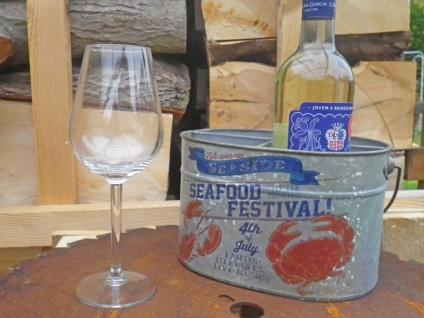 Flaschenträger FESTIVAL f 4 Flaschen Metall Flaschenhalter mit Henkel Zink Optik