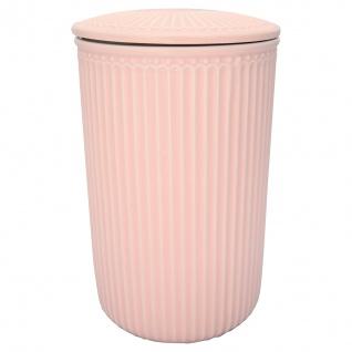 Greengate Vorratsdose mit Deckel ALICE Pale Pink Rosa Groß 13x21 cm Keramik