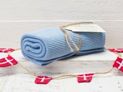 Solwang Küchentuch ORANGE HELL GEBRANNT gestrickt Putztuch Handtuch Geschirrtuch