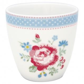 Greengate MINI Latte Cup EVIE Weiss Blumen Rot Blau Espresso Tasse 130 ml