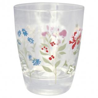Greengate Glas THILDE Wasserglas 300 ml Trinkglas Saftglas mit Blumen
