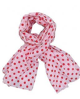 Krasilnikoff Halstuch Punkte rosa Schal, rote Punkte, Tuch pink, Baumwolle