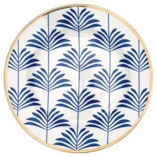 Greengate Teller Gate Noir MAXIME Blau 20 cm Porzellan Geschirr Kuchenteller